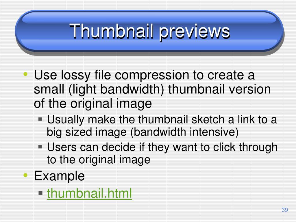 Thumbnail previews
