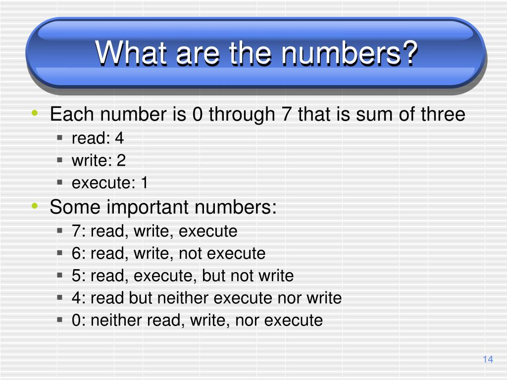 What are the numbers?