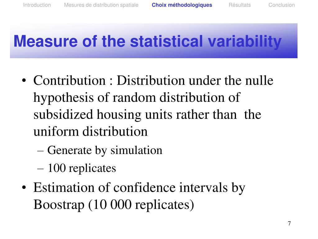 Introduction         Mesures de distribution spatiale