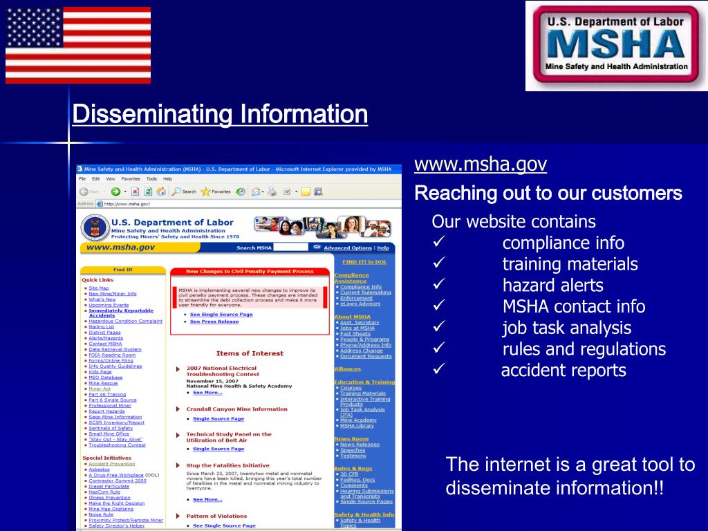 Disseminating Information