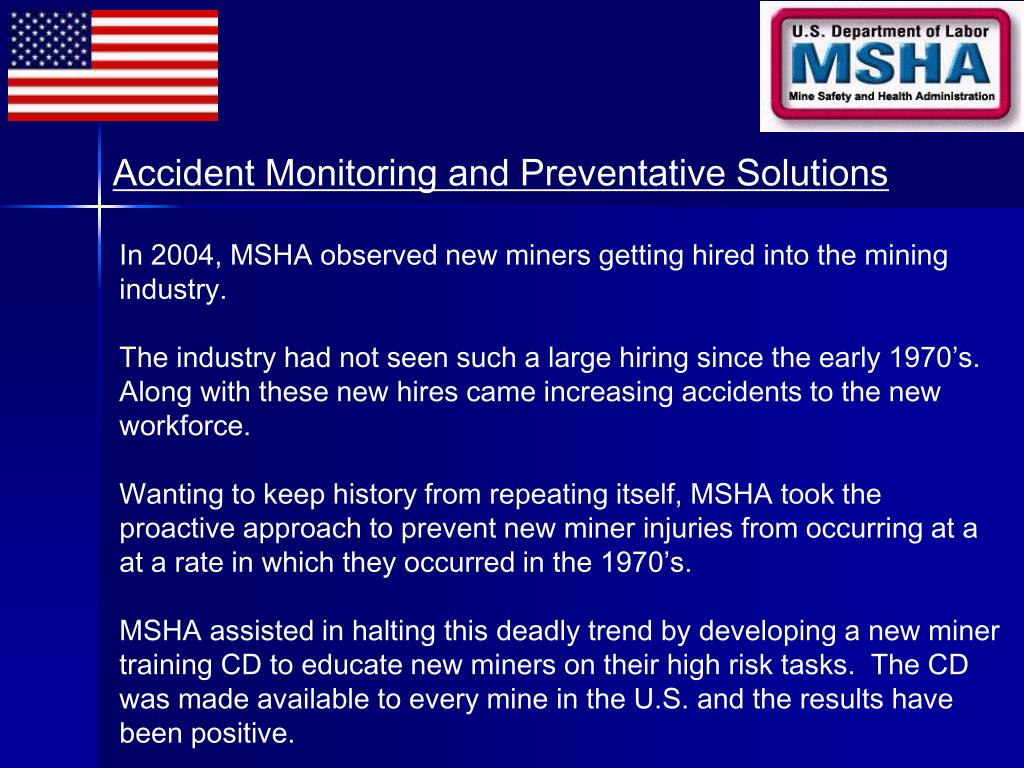 Accident Monitoring and Preventative Solutions