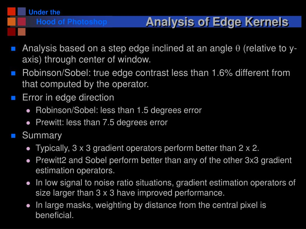 Analysis of Edge Kernels