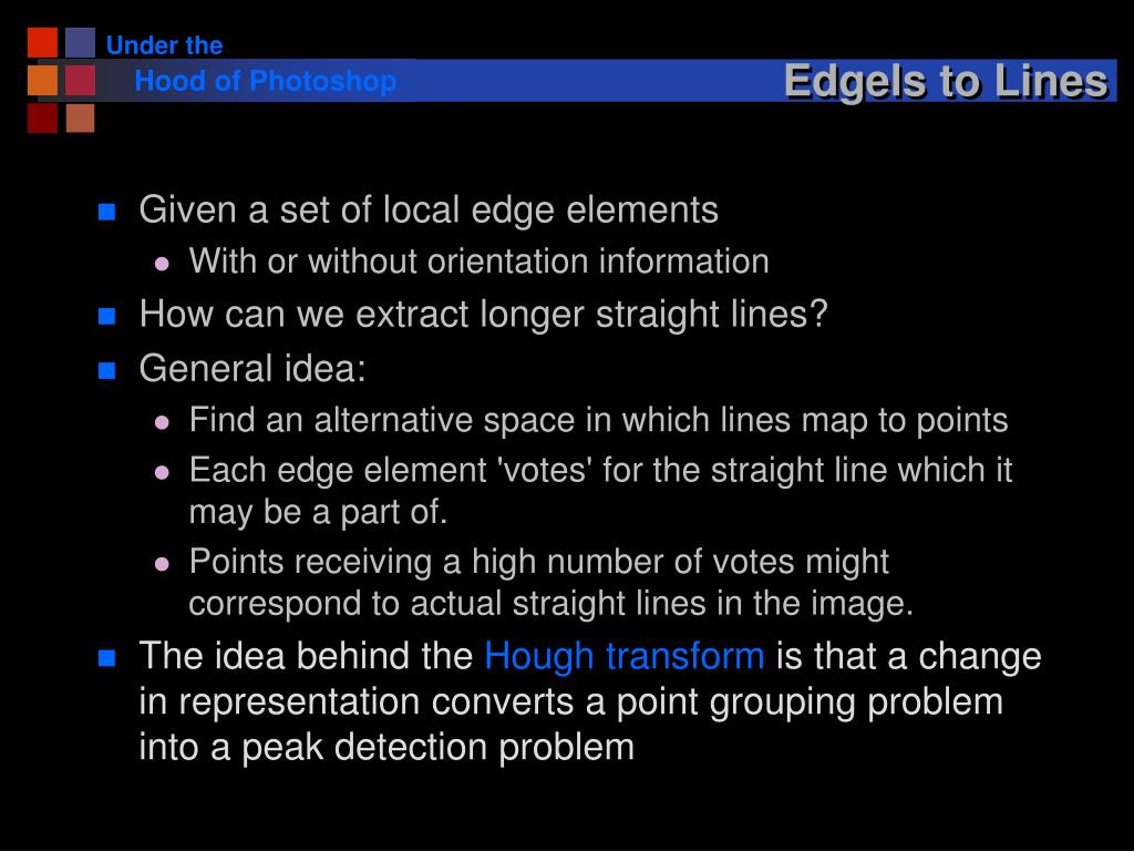 Edgels to Lines