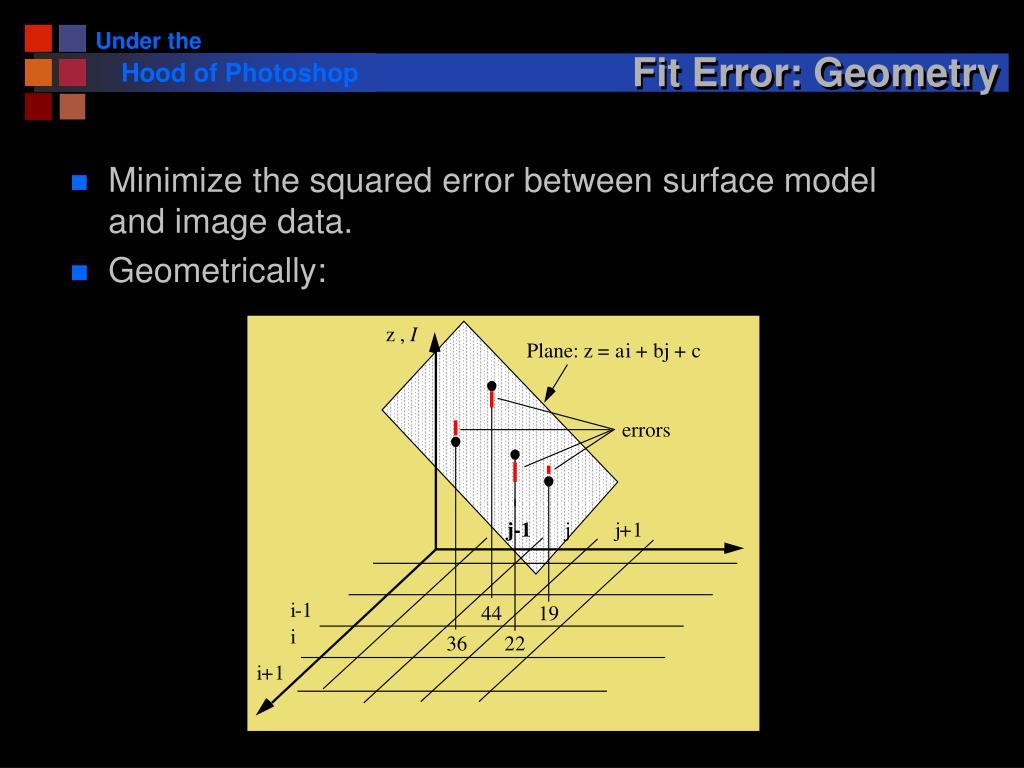 Fit Error: Geometry