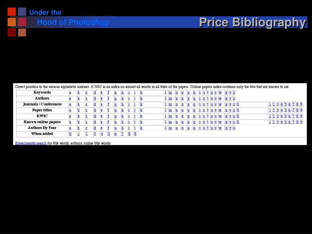 Price Bibliography