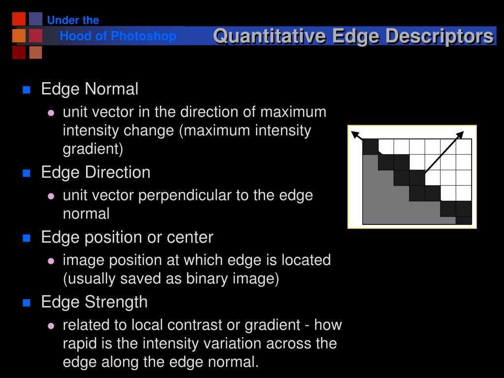 Quantitative Edge Descriptors