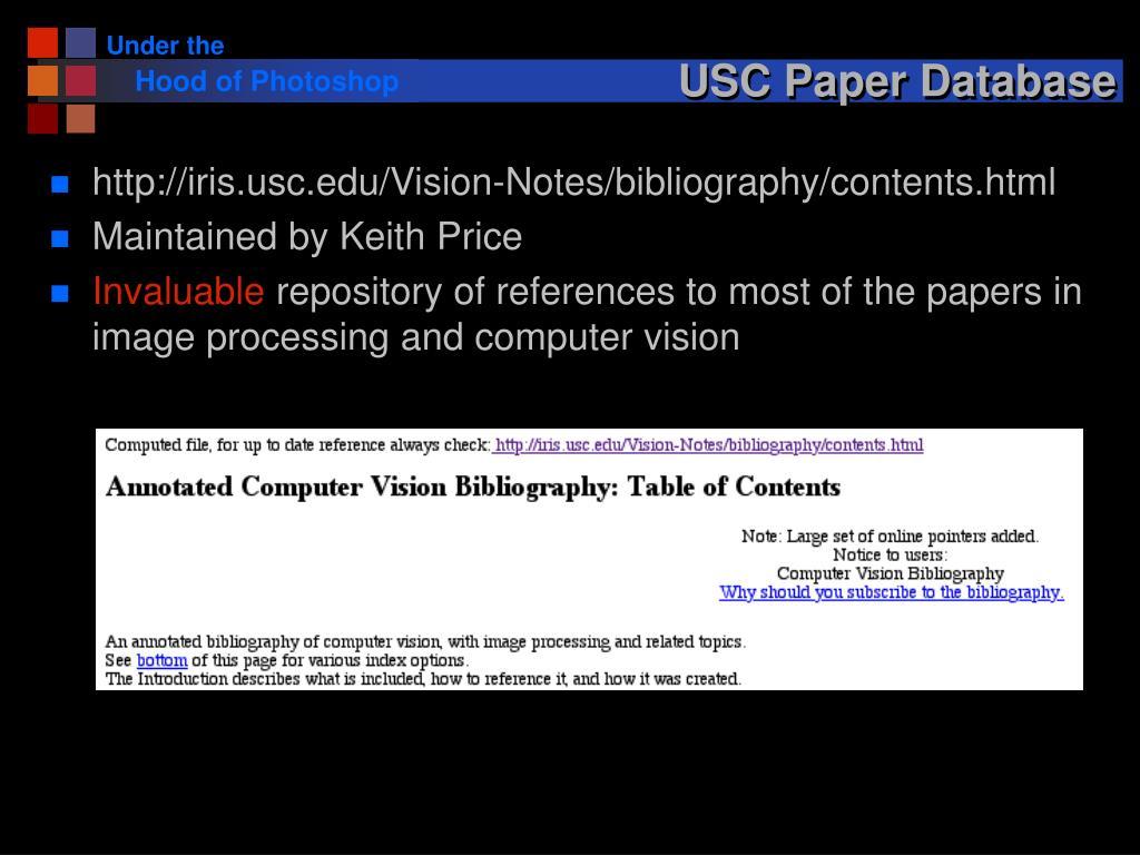USC Paper Database