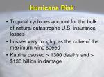 hurricane risk