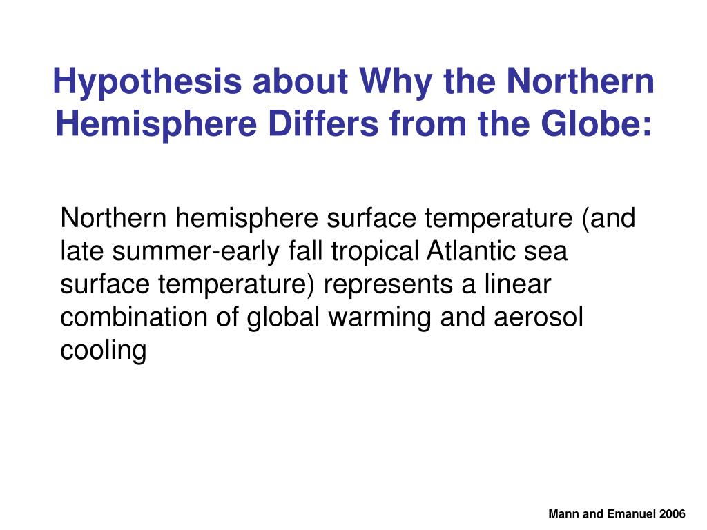 Northern hemisphere surface temperature (and late summer-early fall tropical Atlantic sea surface temperature) represents a linear combination of global warming and aerosol cooling