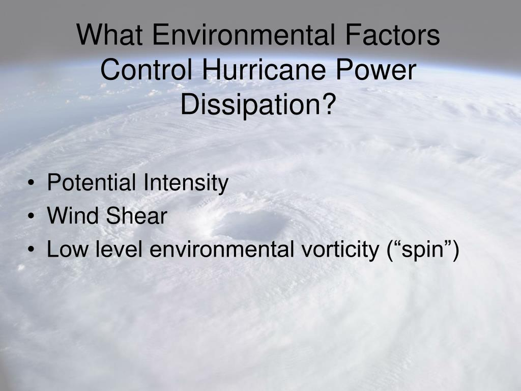 What Environmental Factors Control Hurricane Power Dissipation?
