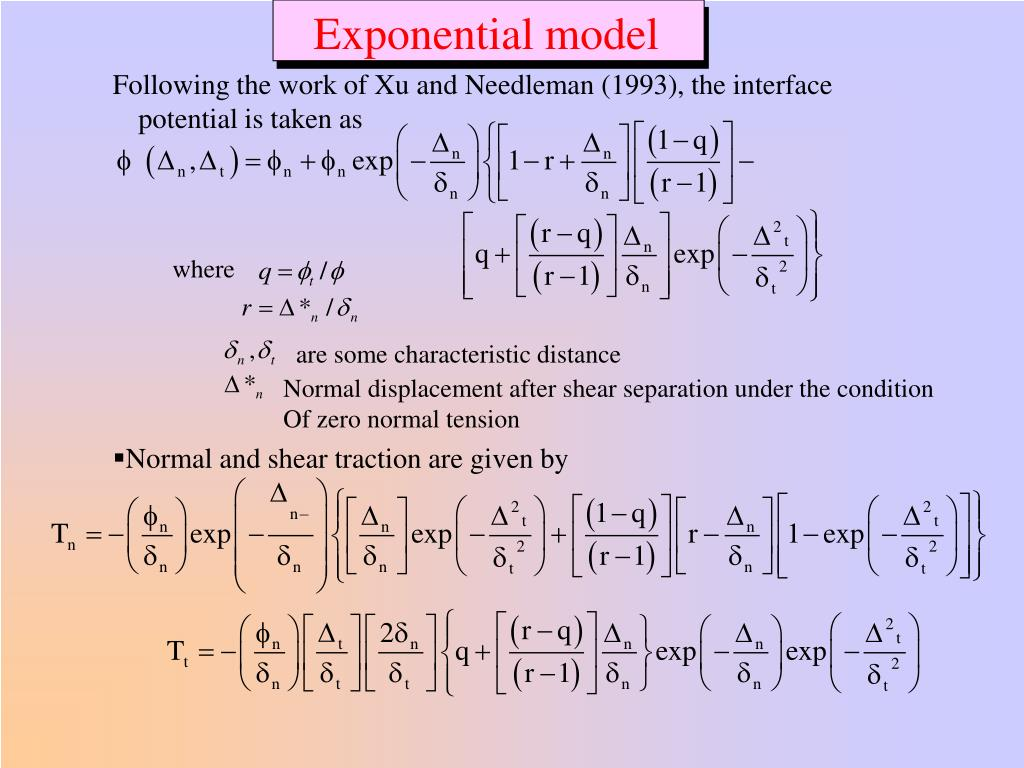 Exponential model