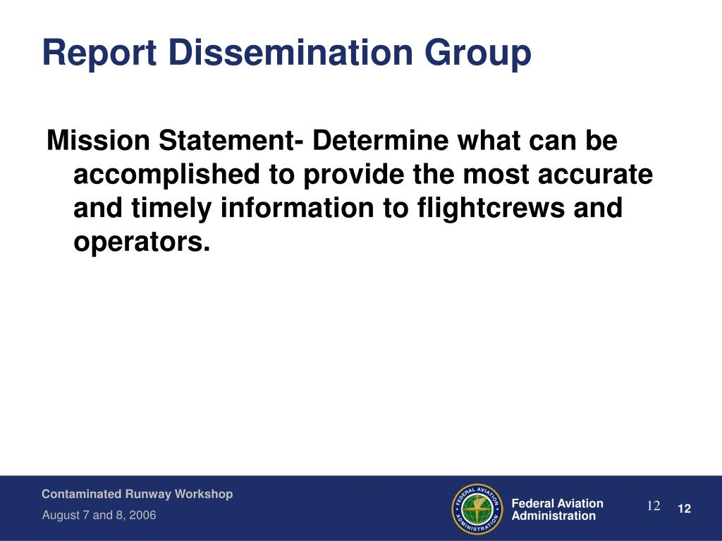 Report Dissemination Group