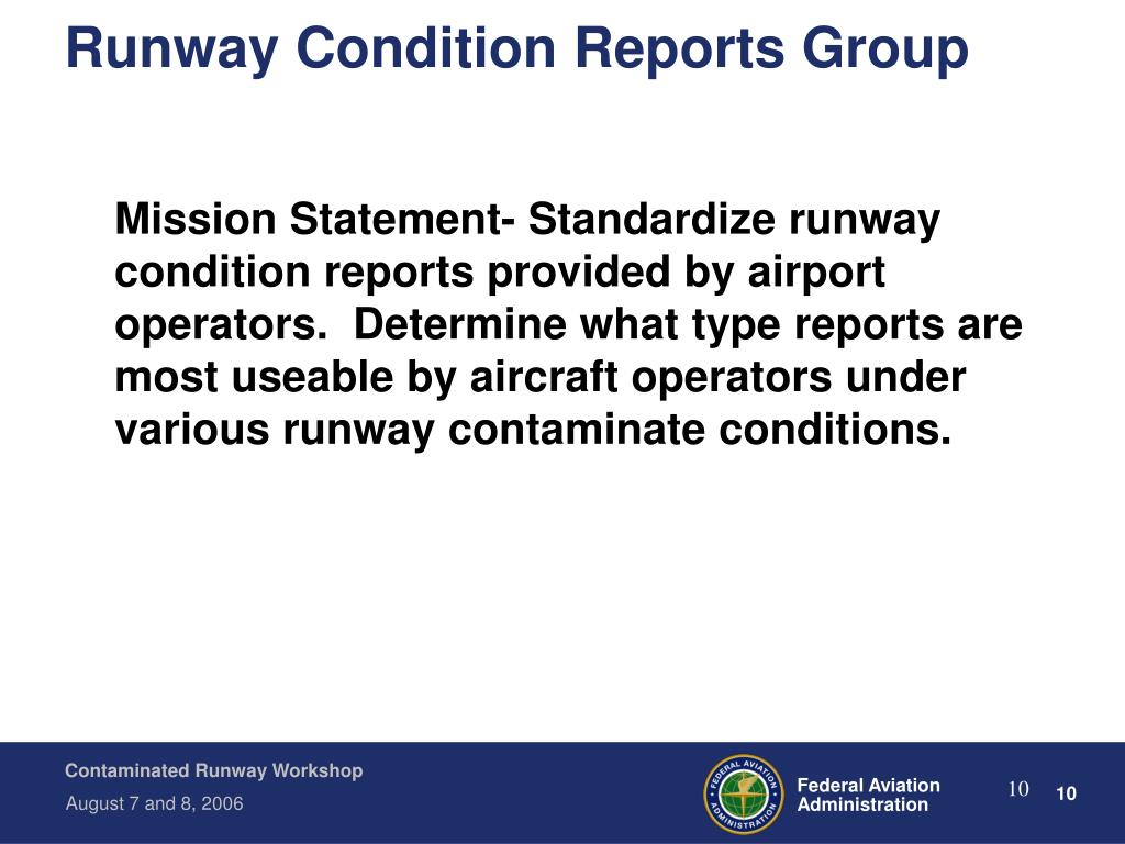 Runway Condition Reports Group