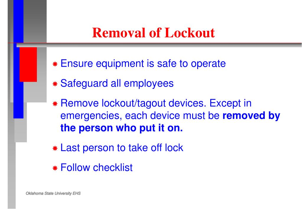Removal of Lockout