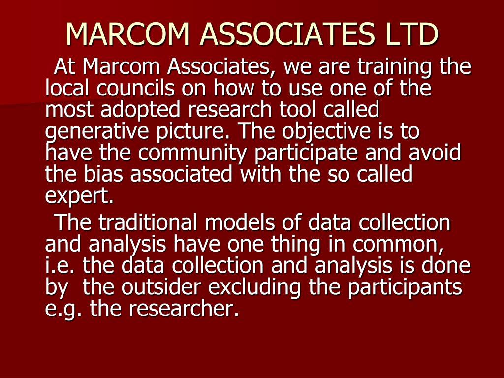 MARCOM ASSOCIATES LTD