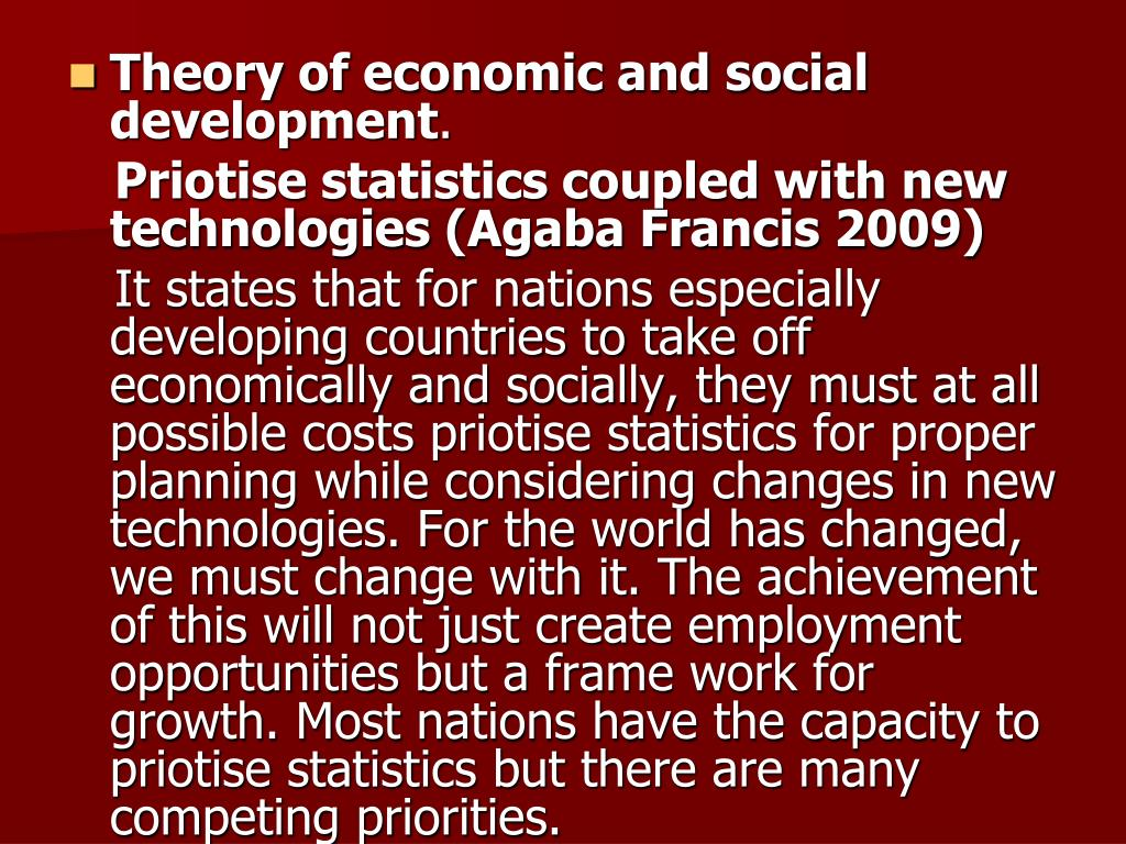 Theory of economic and social development