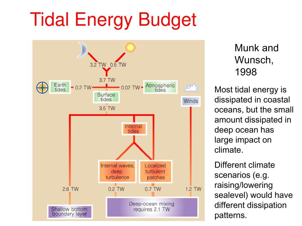 Tidal Energy Budget