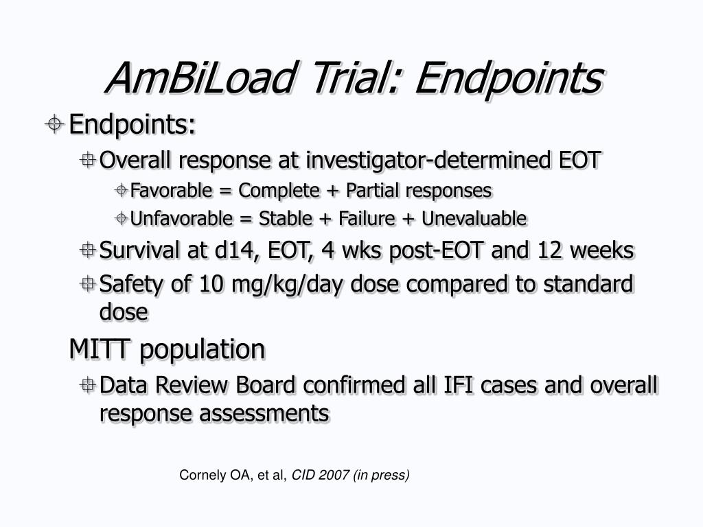AmBiLoad Trial: Endpoints