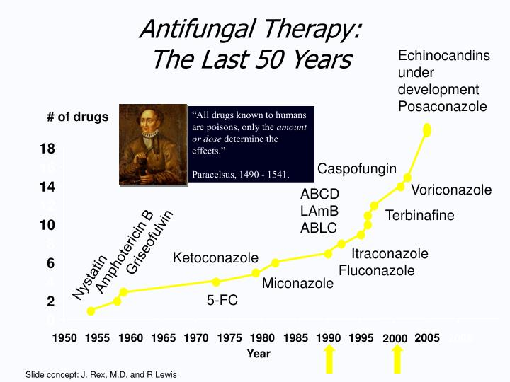 Antifungal therapy the last 50 years