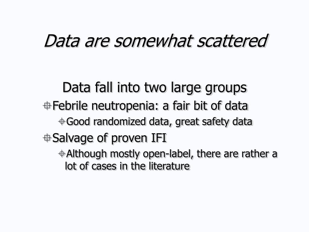 Data are somewhat scattered