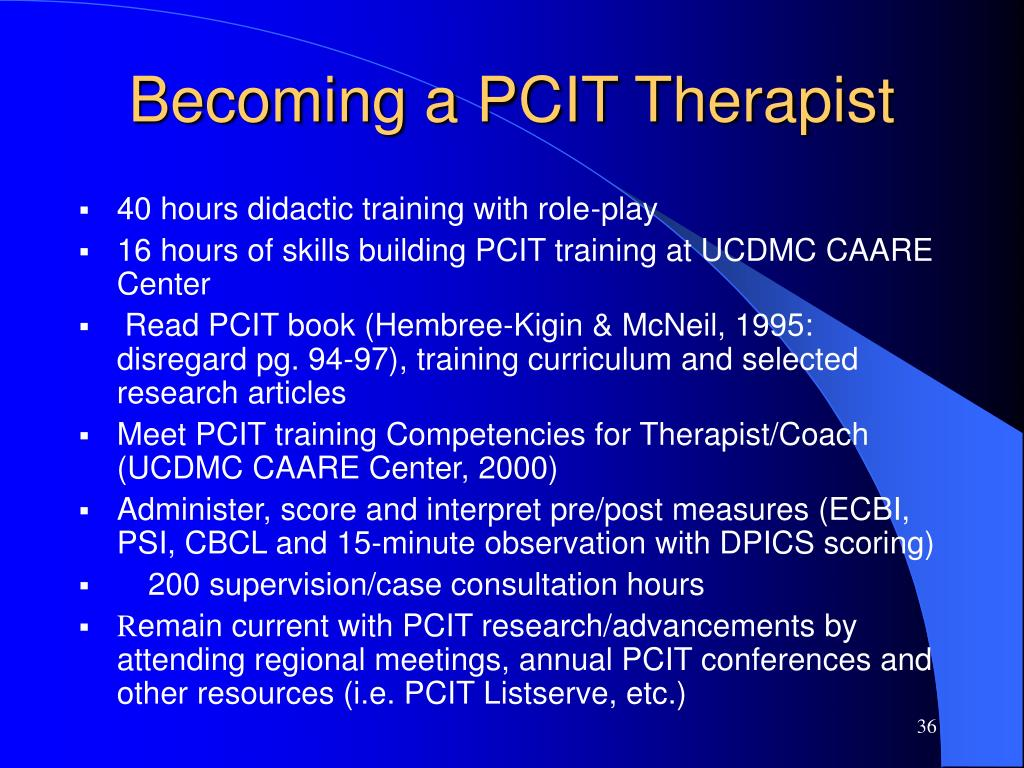 Becoming a PCIT Therapist