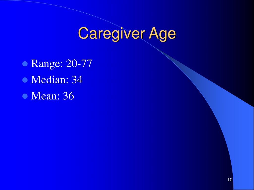Caregiver Age