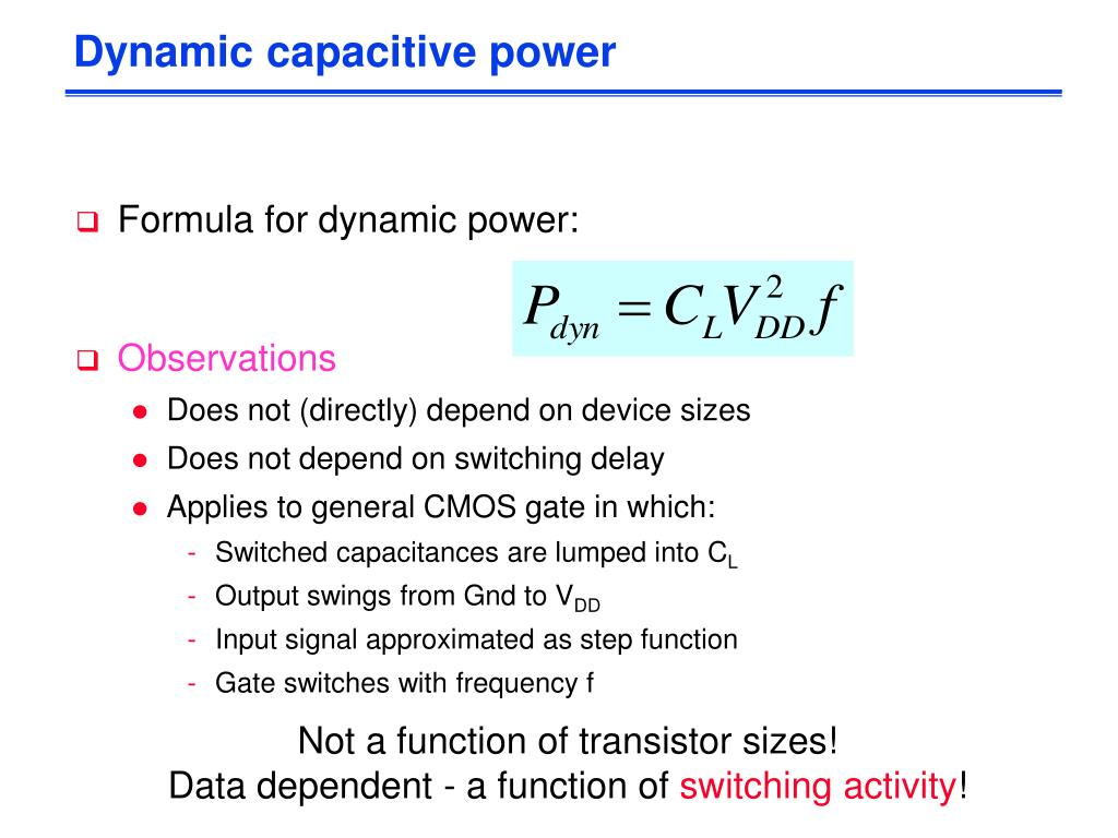 Dynamic capacitive power