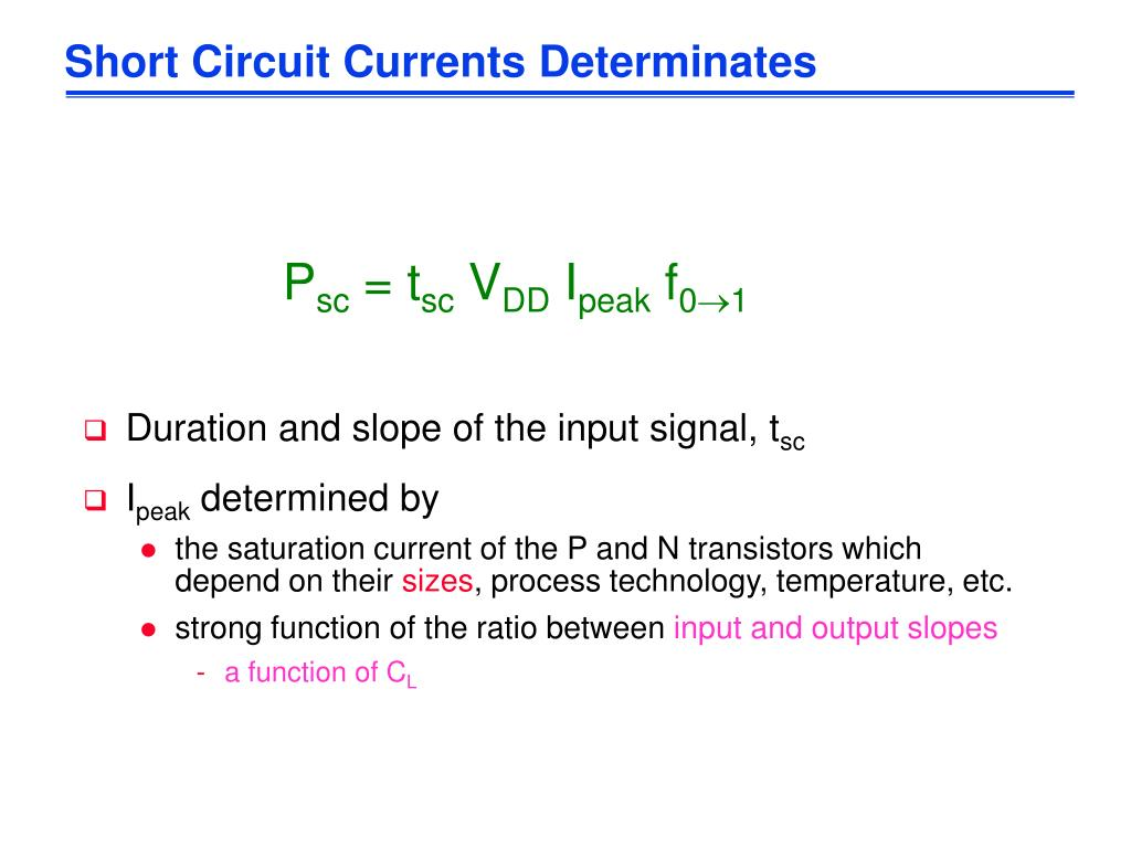 Short Circuit Currents Determinates