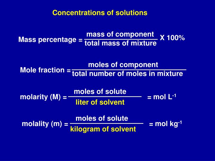 mass of component