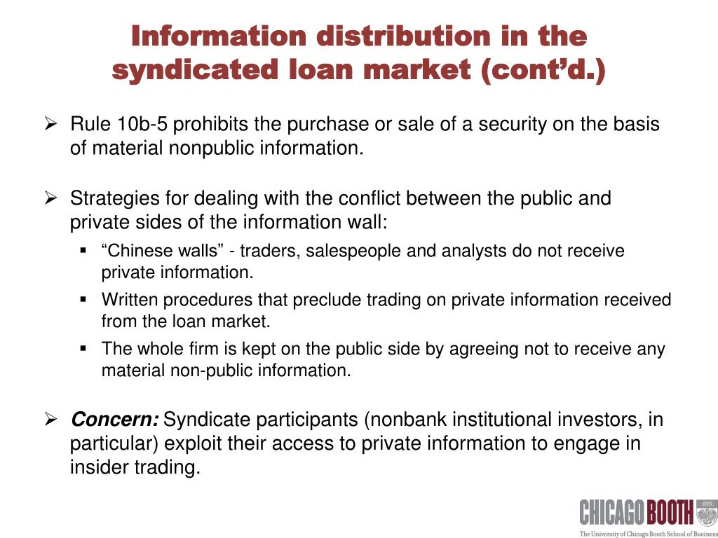 Information distribution in the