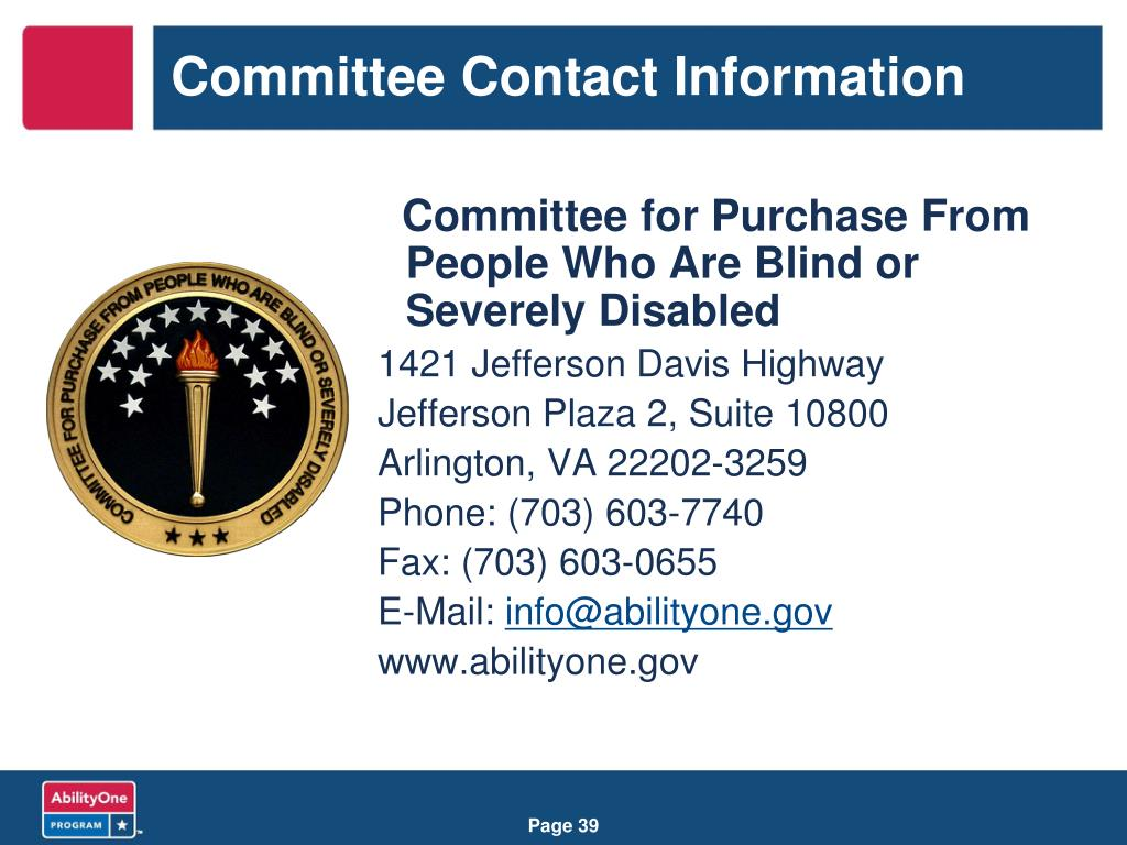 Committee Contact Information