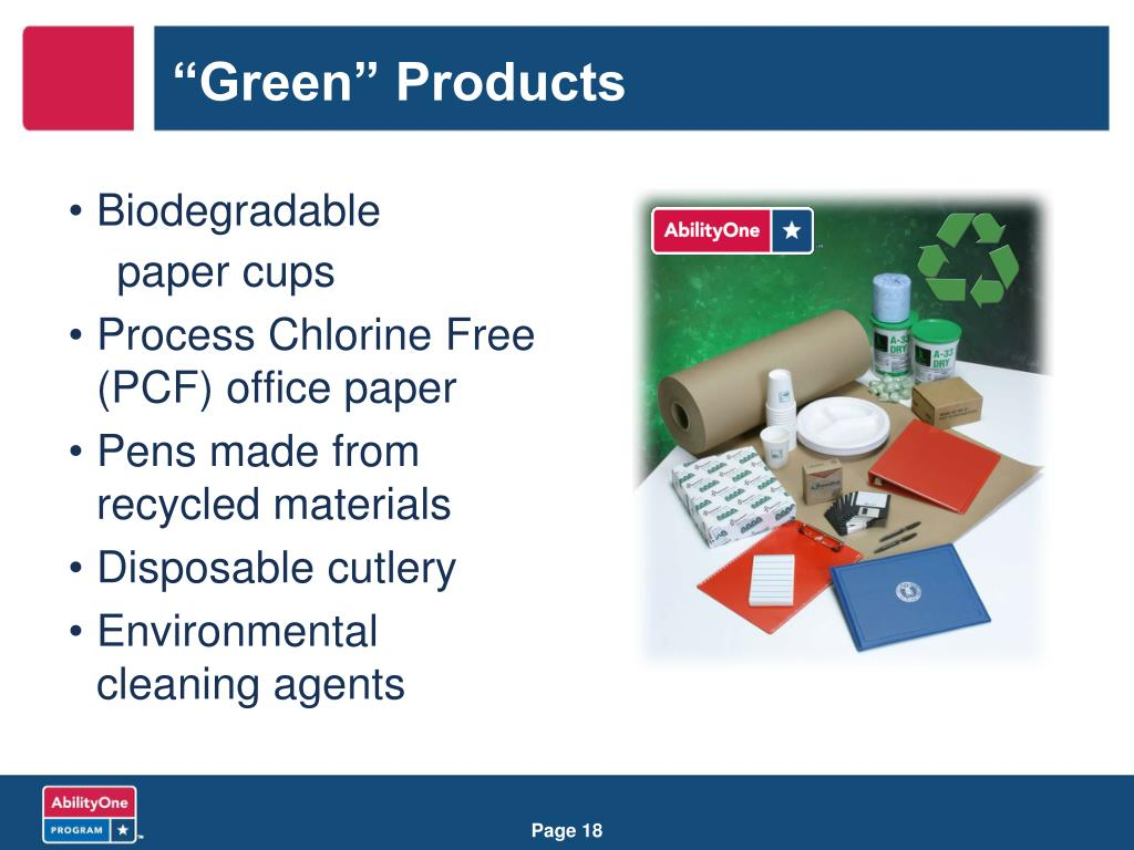 """""""Green"""" Products"""