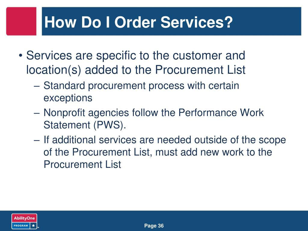 How Do I Order Services?
