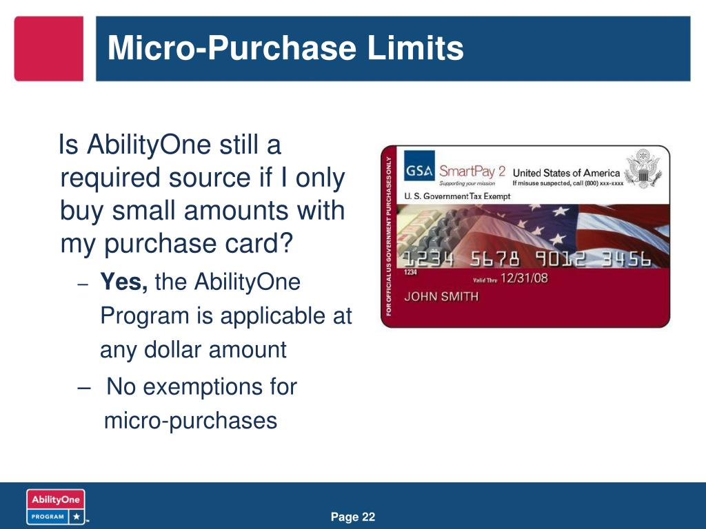 Micro-Purchase Limits