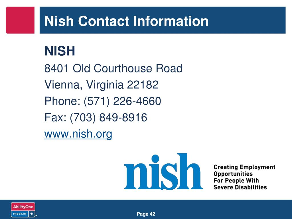 Nish Contact Information