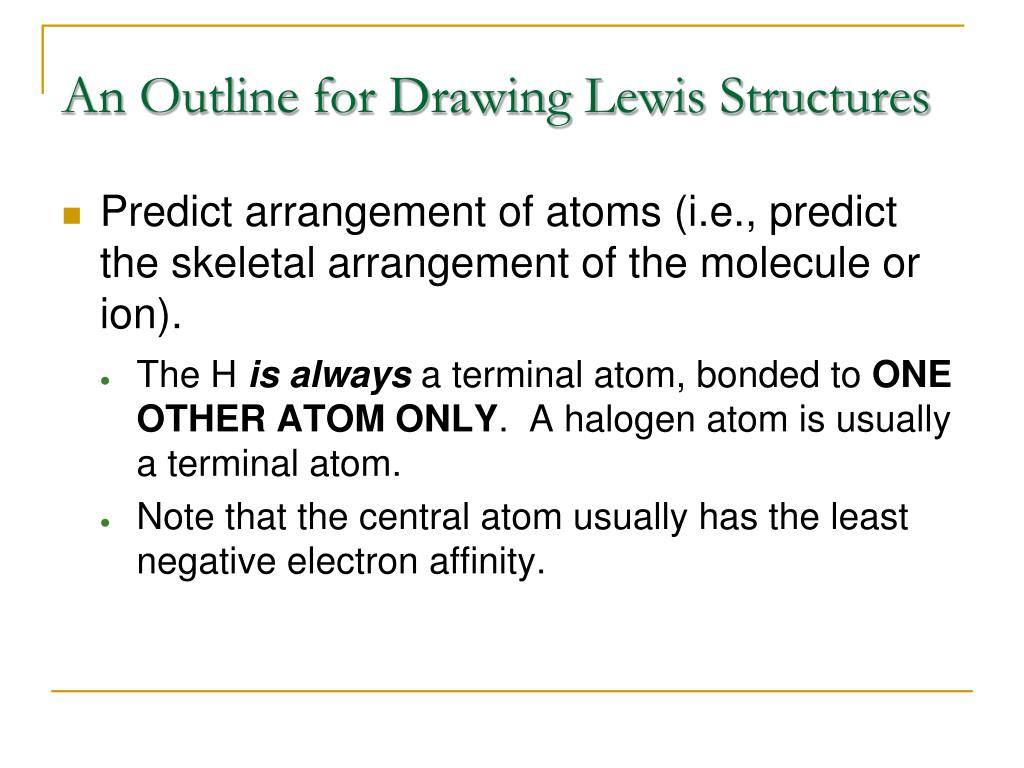 An Outline for Drawing Lewis Structures