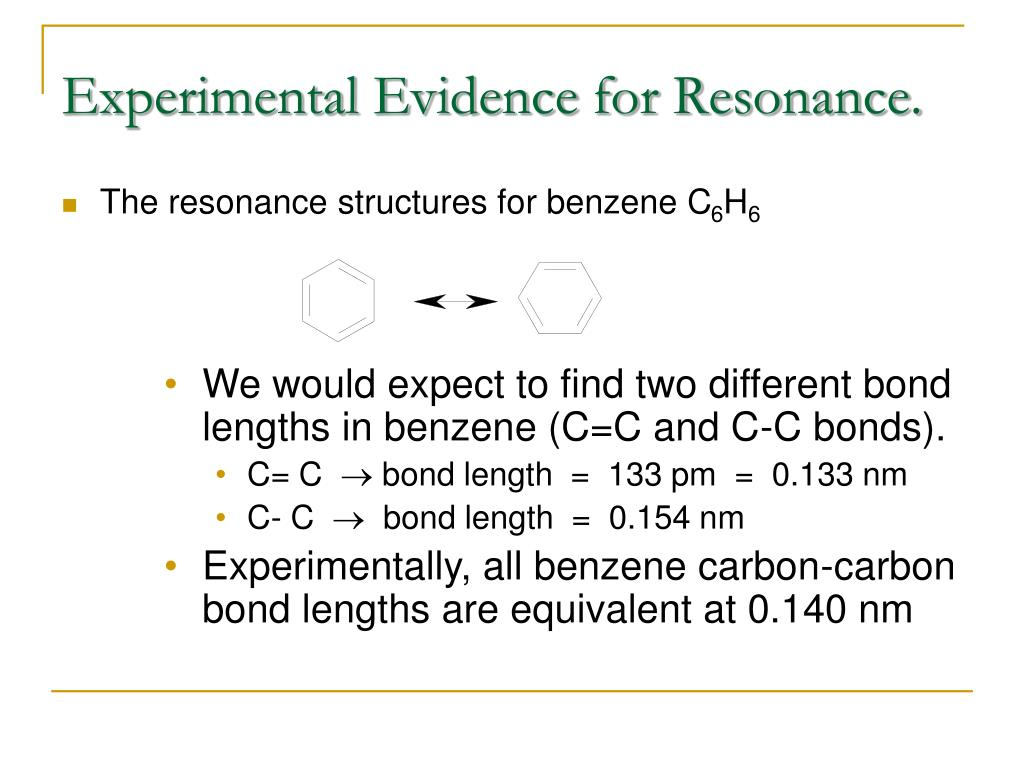 Experimental Evidence for Resonance.
