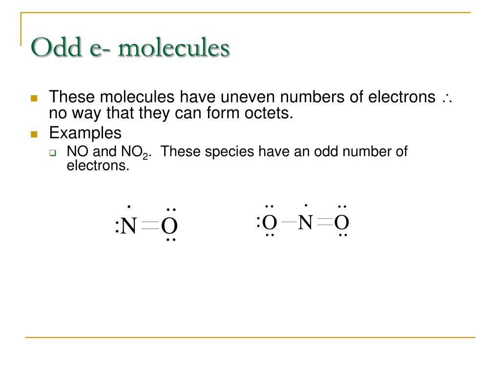 Odd e- molecules