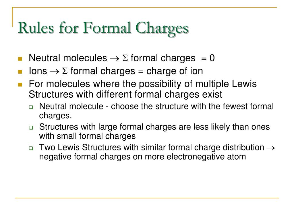 Rules for Formal Charges
