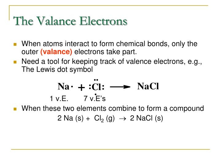The valance electrons