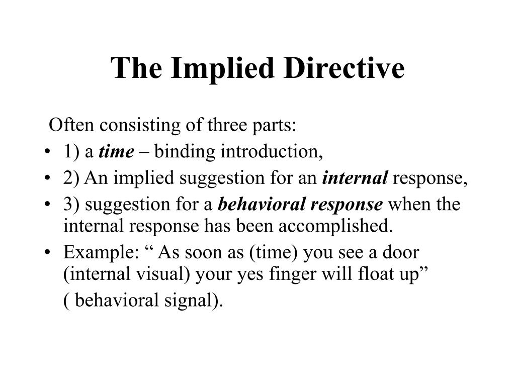 The Implied Directive