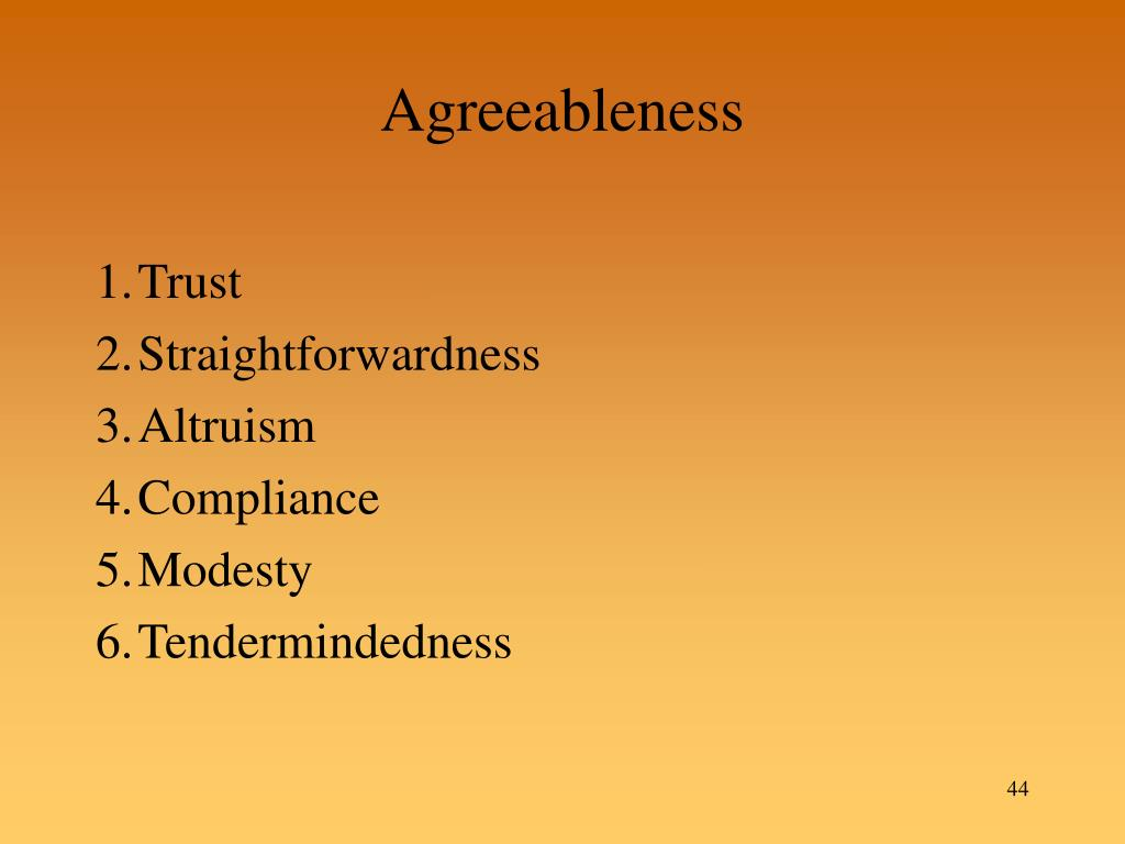 Agreeableness