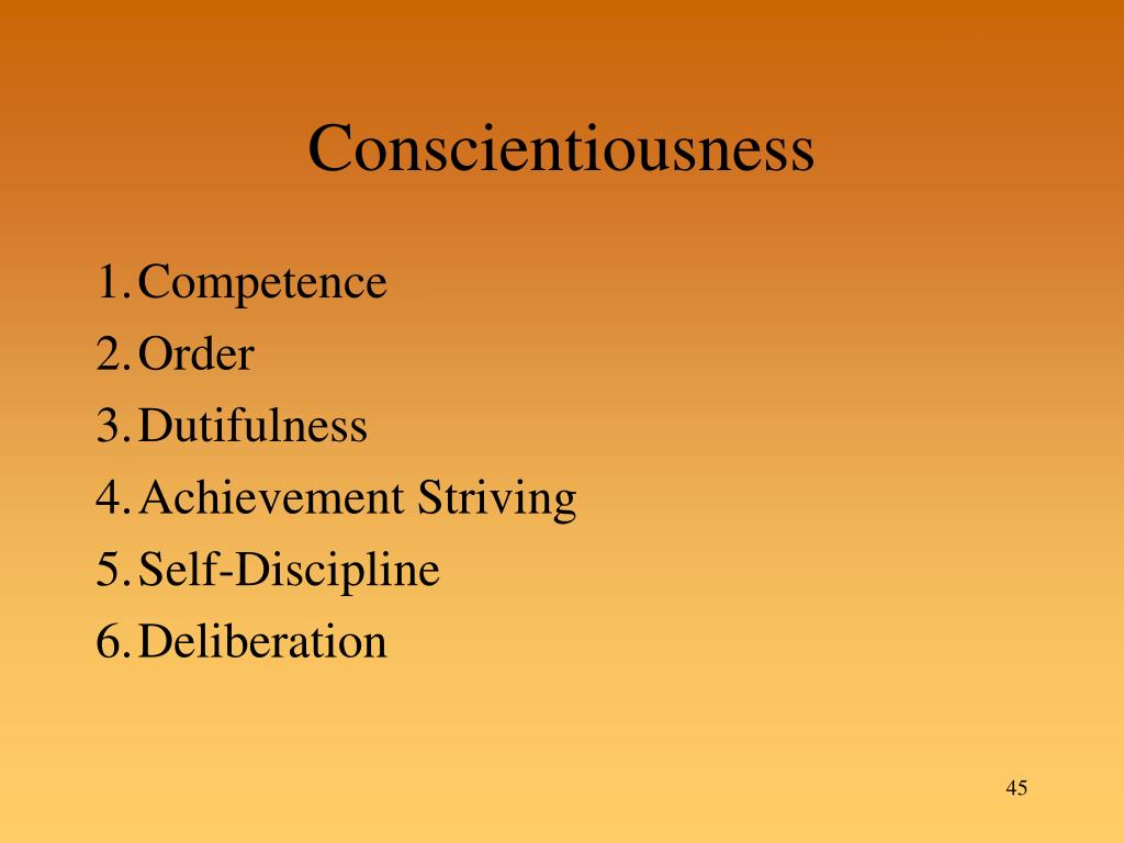Conscientiousness