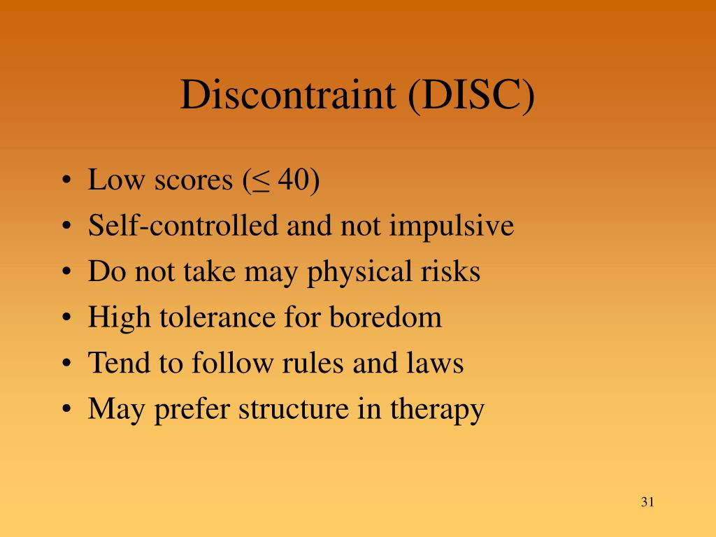 Discontraint (DISC)
