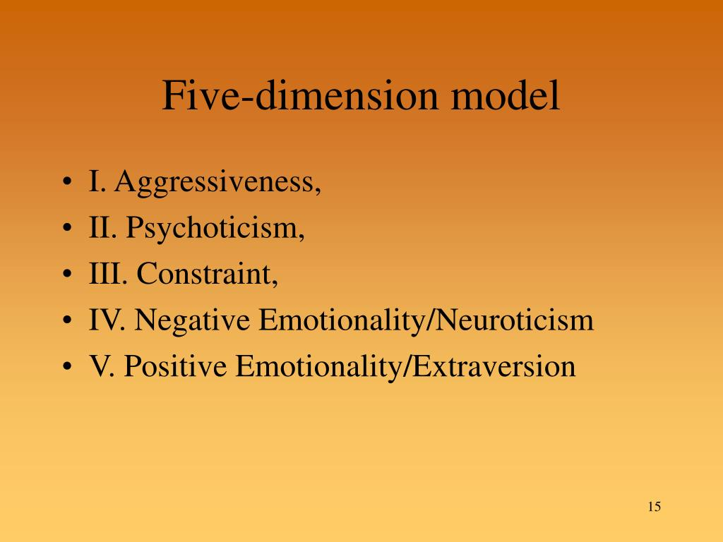 Five-dimension model