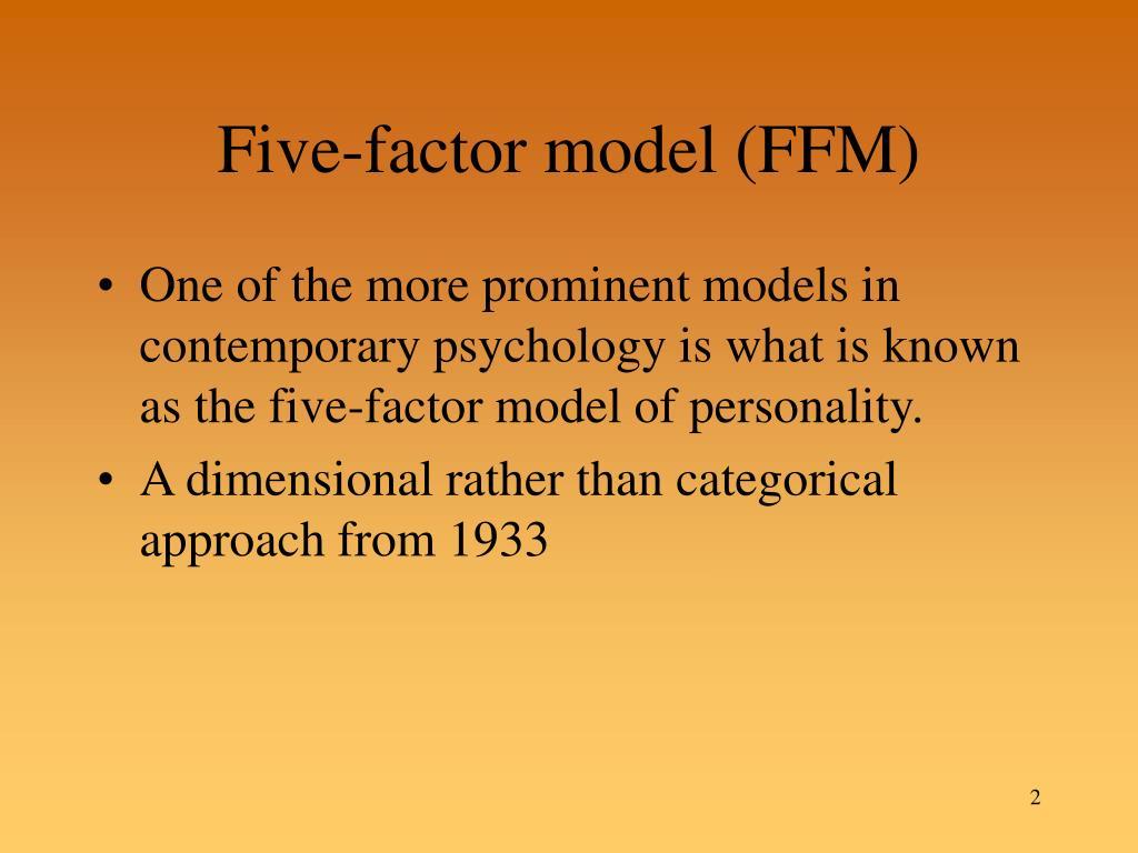 Five-factor model (FFM)
