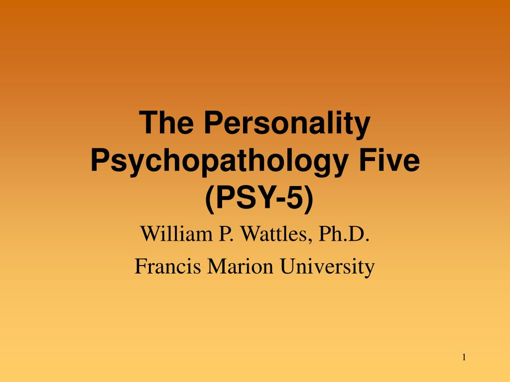The Personality Psychopathology Five