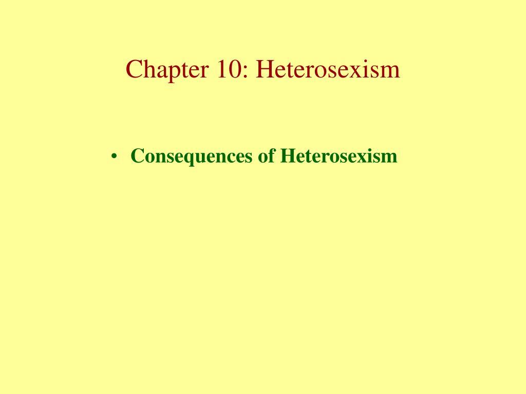 Consequences of Heterosexism
