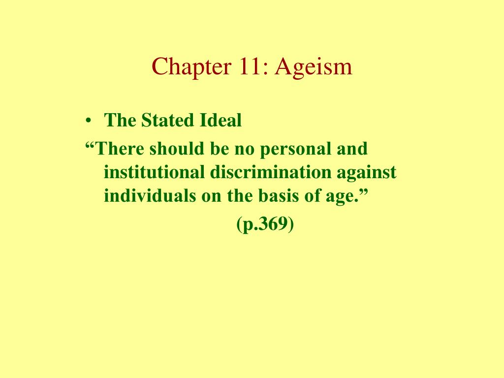The Stated Ideal