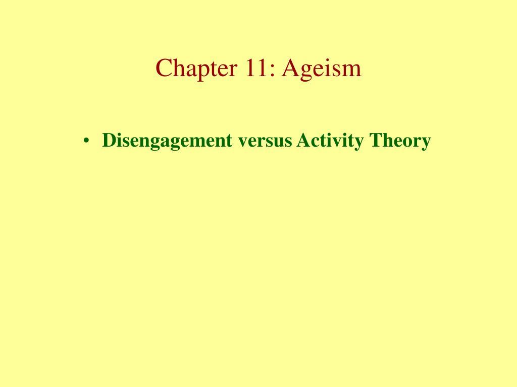 Disengagement versus Activity Theory
